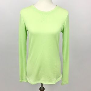 Under Armour Neon Green Thermal Waffle Long Sleeve